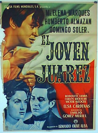 Los primeros años de Benito Juárez y los acontecimientos sociales en su natal Oaxaca. El joven Juárez de Emilio Gómez Muriel, México, 1954.