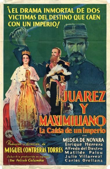 Narra la vida en México del emperador y su fusilamiento. Juárez y Maximiliano de Miguel Contreras Torres, México, 1933.
