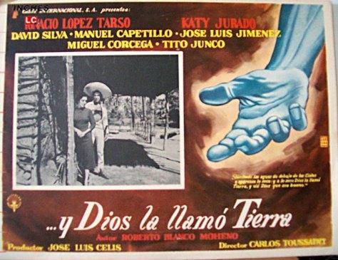La Reforma Agraria se analiza y explica desde la óptica cinematográfica, en la época de Cárdenas. Y Dios la llamó tierra de Carlos Toussaint, México, 1960.