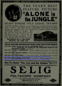 The Moving Picture World del 14 de junio de 1913 (Vol. XVI, No. 11, p. 1105)