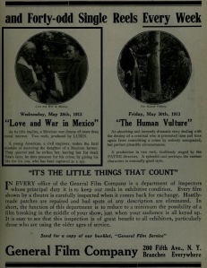 The Moving Picture World del 24 de mayo de 1913 (Vol XVI, No. 8, p. 781)
