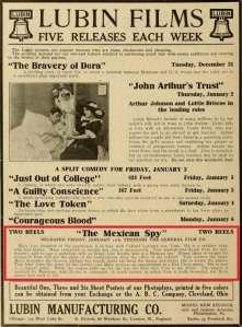 The Moving Picture World del 4 de enero de 1913 (Vol. XV, No. 1, p. 20)
