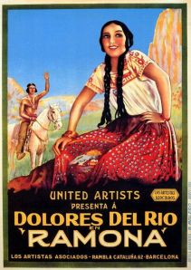 Spanish language poster from 'Ramona' (1928). Photo Courtesy Library of Congress, Motion Picture, Broadcasting and Recorded Sound Division